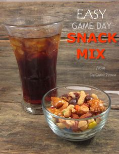 A great Game Day Snack Mix that goes really fast at my house...it's great to have around to satisfy that salty-sweet snack craving that hits from time-to-time as well.