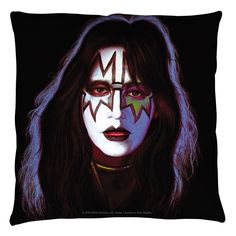 Kiss - Ace Frehley Space Ace 2 Sided Throw Pillow