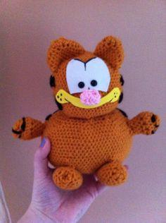 Crochet Garfield Animation Character, Comic Games, Fat Cats, Peanuts, Free Pattern, Pikachu, Hello Kitty, Cross Stitch, Clay