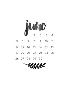 monthly freebie | june calendar