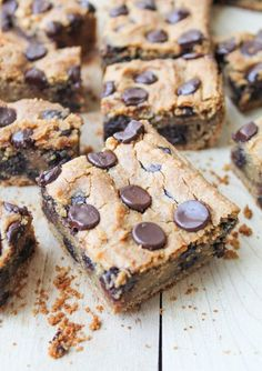 Peanut Butter & Chocolate Chickpea Cookie Bars – Gluten Free & Vegan