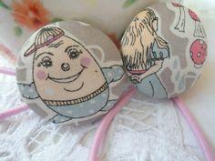 Haargummi Alice Stoffknopf von Happy Lilly auf DaWanda.com
