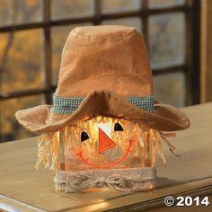 Scarecrow+Glass+Block+Lamp+-+TerrysVillage.com