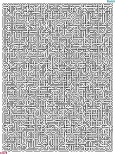 Mazes to Print - Mega Crossover Mazes Maze Worksheet, Number Worksheets, Hard Mazes, Maze Book, Printable Mazes, Mazes For Kids, Maze Puzzles, Maze Game, Lets Play A Game
