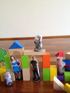 Playing and Learning Begins at Home: Home made Familiar Block People