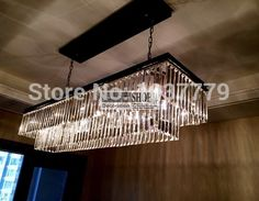 2 ring crystal black iron Odeon clear glass rectangular chandelier 125cm length-in Chandeliers from Lights & Lighting on Aliexpress.com | Alibaba Group