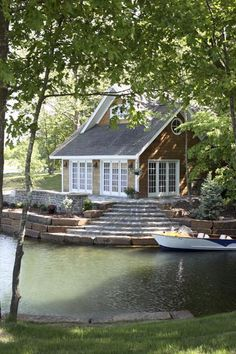 What the combination of my ideal lake house and affordable lake house might look like. (and who are we kidding? We can't afford a lake house at all! :) )