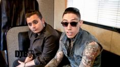 The pop rock band, Metro Station, shares their tips for touring! Pop Rock Bands, Metro Station, Trace Cyrus, Touring, Mens Sunglasses, Digital, Tips, Tattoos, Videos