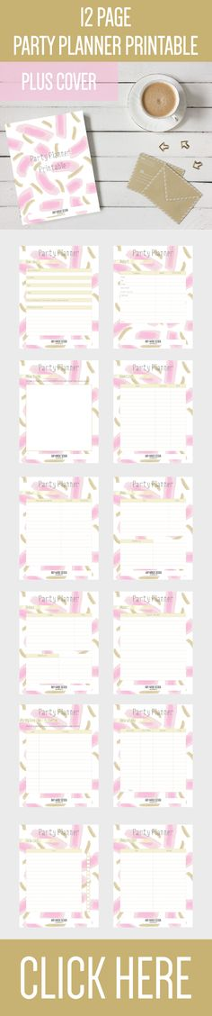 Free Printable Pink Planner Pages For Any Year! Planner pages - free printable guest list