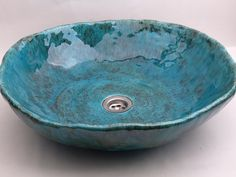 Sink In The Sea Big Bowl Bathroom Ceramic Sink Hand Formed Washbasin Ceramic Bathroom Decorating