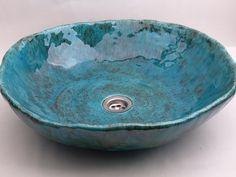 sink in the sea BIG BOWL Bathroom Ceramic Sink Hand by Dekornia