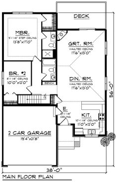 Rustic Home Plan First Floor - 051D-0826 | House Plans and More