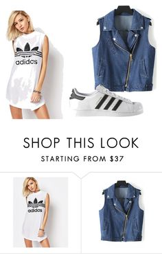 """""""Casual Chick"""" by naturalbeautyxo16 on Polyvore featuring adidas"""