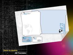 Diseño de Papelería AB Translator