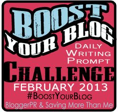 February Writing Challenge--#boostyourblog content