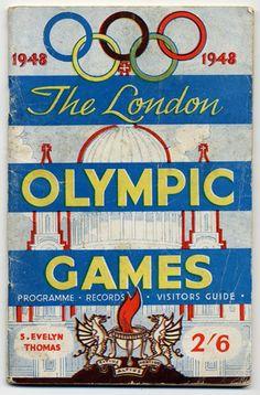Cover of 1948 London Olympics souvenir programme. London Olympic Games, Olympic Games Sports, Olympic Medals, Olympic Gymnastics, Gymnastics Quotes, Jordyn Wieber, Sports Day, Winter Games, London Art