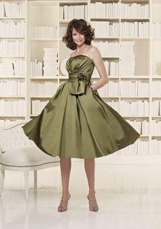 Olive Green Bridesmaid Dresses 500x708 Olive Green Bridesmaid Dresses to Get Gorgeous Looks