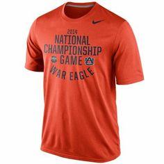 Nike Auburn Tigers 2014 BCS National Championship Game Bound War Eagle T-Shirt - Orange nike rose, auburnwar eagl, bowl bound, bound legend, war eagle, rose bowl