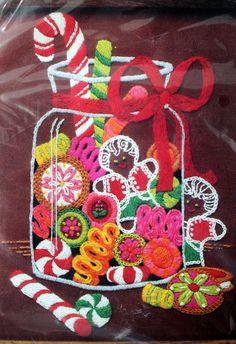 Crewel Kit Sweet Treats by The Creative Circle 100% by LifesAYoyo