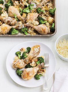 Recette de Ricardo de poulet, chou-fleur et brocoli au cheddar