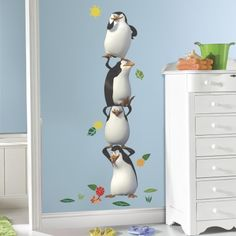 Penguins of Madagascar Giant Wall Decals