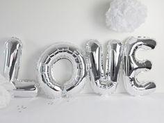Hochzeitsdeko - Folienluftballon Luftballon Schriftzug *LOVE - ein Designerstück von gluecksschauer bei DaWanda