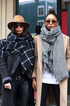 Sundance Street Style // graphic print scarves // winter style