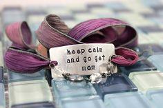 Custom Silk Wrap Bracelet  keep calm and go get by BobbieJoDesigns, $29.99