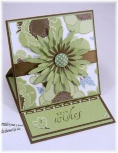 pretty easel card by megan