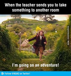 when the teacher sends you to take something to another room :)