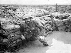 The accumulation of water in the bottom of the trenches caused many soldiers feet to start rotting, an infliction that got the name, trench foot.