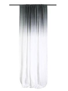Custom Length Ombre Curtains, Hand Made Of Soft Medium Weight Natural 100%  Linen Fabric
