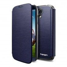 Capa Galaxy S4 Spigen SGP Ultra Flip Metalico Azul  R$120,59