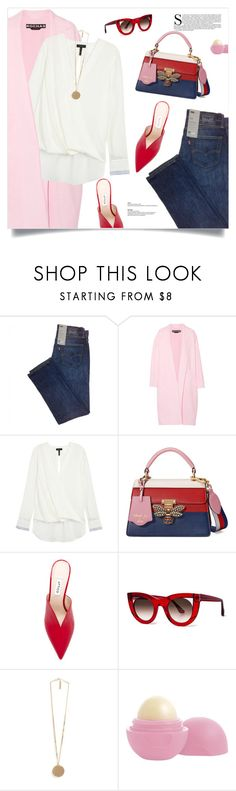 """""""Street style stars"""" by magdafunk ❤ liked on Polyvore featuring Rochas, rag & bone, Gucci, Attico, Thierry Lasry, Givenchy and Eos"""
