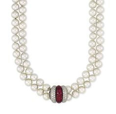 Ruby And Diamond Necklace, Pearl Choker Necklace, Pearl Bracelet, Pearl Jewelry, Luxury Jewelry, Fashion Necklace, Jewelry Sets, Birthstones, Fashion Ideas