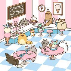 Pusheen : Comics Archives - Page 4 of 32 - Pusheen Cute Kawaii Drawings, Kawaii Doodles, Cute Doodles, Cute Animal Drawings, Pusheen Gif, Pusheen Love, Pusheen Stormy, Nyan Cat, Kawaii Cat