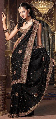 #Desi Bride | Follow #Professionalimage ~ #Desi-bride ~ Black Saree