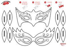 Masques Mardi Gras #Maped #MapedCreatives #Masque #MardiGras #Carnaval #Fête #Coloriage #DIY #Fun #Activités #Enfant
