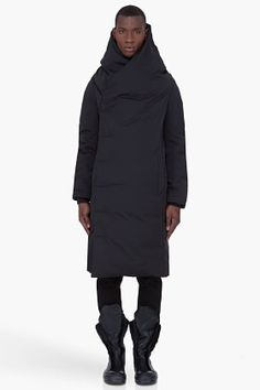 RICK OWENS Long Black Padded Wotan Coat - can't beat Rick Owens for a great look