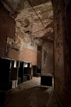 Buffalo State Hospital, Buffalo, NY - Every night, they used lights to illuminate it, and used Plexiglass instead of boards to protect the windows.