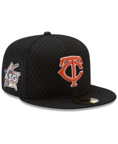 New Era Minnesota Twins 2017 All Star Game Home Run Derby Patch 59FIFTY Fitted Cap - Black 7 1/4