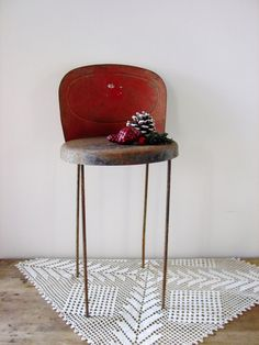 Vintage Toy Doll Stool Chair