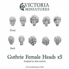 Victoria Miniatures - Guthrie Female Heads x5