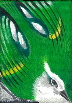 "Rifleman 3.5""x2.5"" Acrylic on canvas"