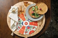 Fall is a time for entertaining -- whether that be during a football, at Thanksgiving, or simply for a home cooked meal. We love our new Chinoserie placemats and wooden accent plates!