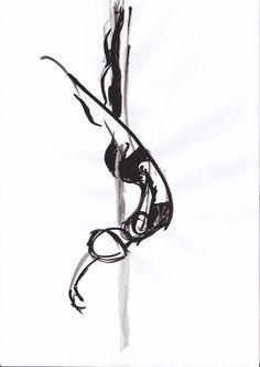 Sketch of a Pole Dancer