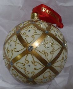 There's nothing nicer on your tree than a #Waterford Holiday Ornament! This Christmas ornament has a Celtic feel and lots of glitter for your home!
