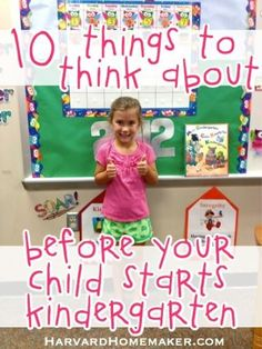 This is a must-read before your child starts kindergarten! Written by a mom of 4, it details all the practical things you REALLY need to think about before your child starts school, and not one has anything to do with academics! By popular request, there is also a 2-page printable PDF now available for teachers to pass out to parents. #parenting #kindergarten #preschool #momtips #harvardhomemaker