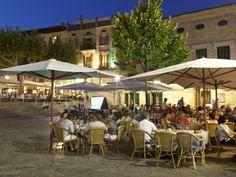 Restaurants in the Plaza Mayor, Pollenca