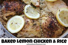 Baked Lemon Chicken & Rice